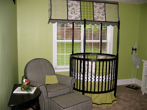 Chic Apple Green Baby Nursery Design Dazzle