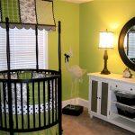 Chic Apple Green Baby Nursery