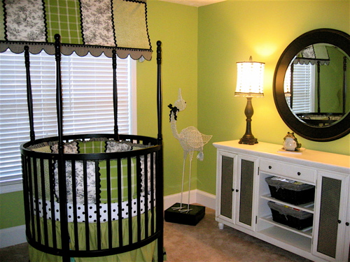 Chic Le Green And Black Accents Baby Nursery Design Dazzle