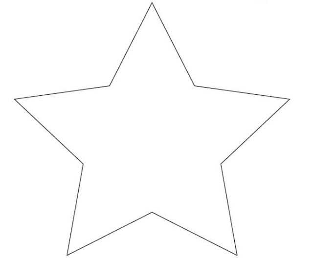 printable star outline
