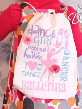Canvas Dance Bag: Create a Stencil Using Stickers!