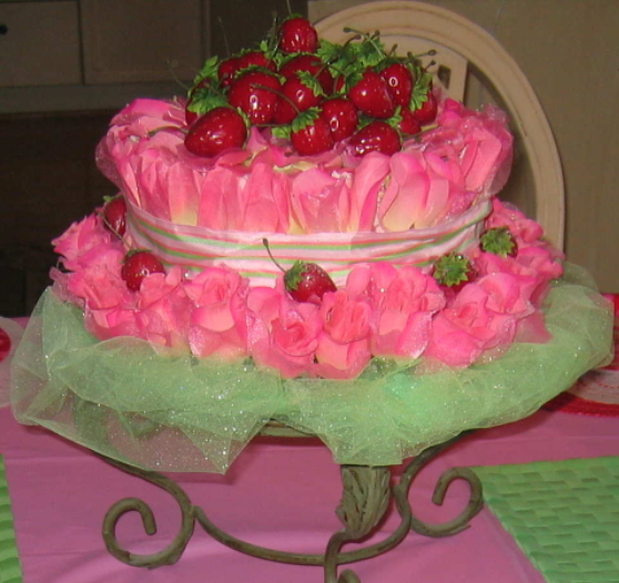 I made this faux strawberry shortcake u201ccakeu201d as the centerpiece for a SS party theme several years ago. Easy to do u2013 purchase a Styrofoam base silk flowers ... & Strawberry Shortcake Party Ideas - Design Dazzle