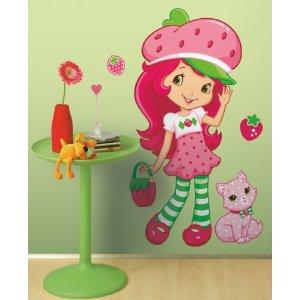 roommates strawberry shortcake giant peel stick applique