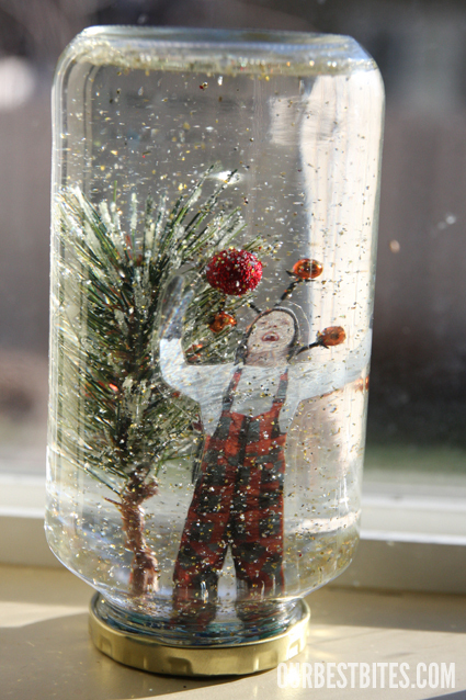 Make your own snow globe! featured on Design Dazzle