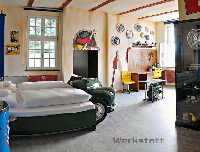 Amazing This Room (and The Following 4 Images) Are From The V 8 Hotel In Stuttgart,  Germany. The Rooms Are Designed To Represent A Gas Station, Car Wash, ...