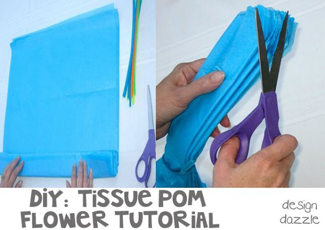 DIY: tutorial tissue pom flowers - Design Dazzle