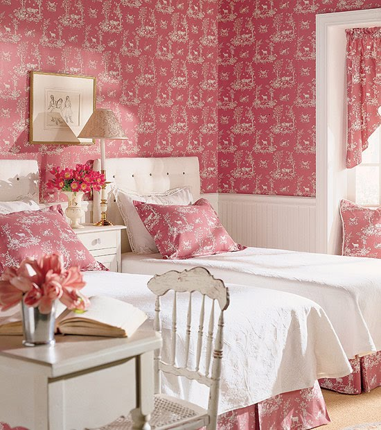 Bedroom Decorating Ideas Totally Toile: Toile Girls Room