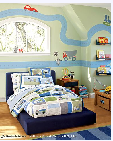 terrific boys bedroom | Varoom.....Transportation Bedroom - Design Dazzle