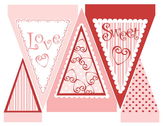 It is an image of Old Fashioned Printable Valentine Decorations