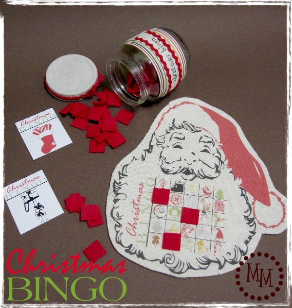 Christmas Bingo Printable Featured on Design Dazzle