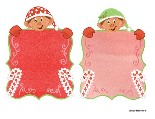 Free elf printables - leave a note for your child from their elf or give cute little gifts with elf printables - Design Dazzle