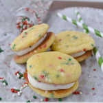 Christmas Wonderful: Funfetti Cookie Sandwiches with Marshmallow Cream