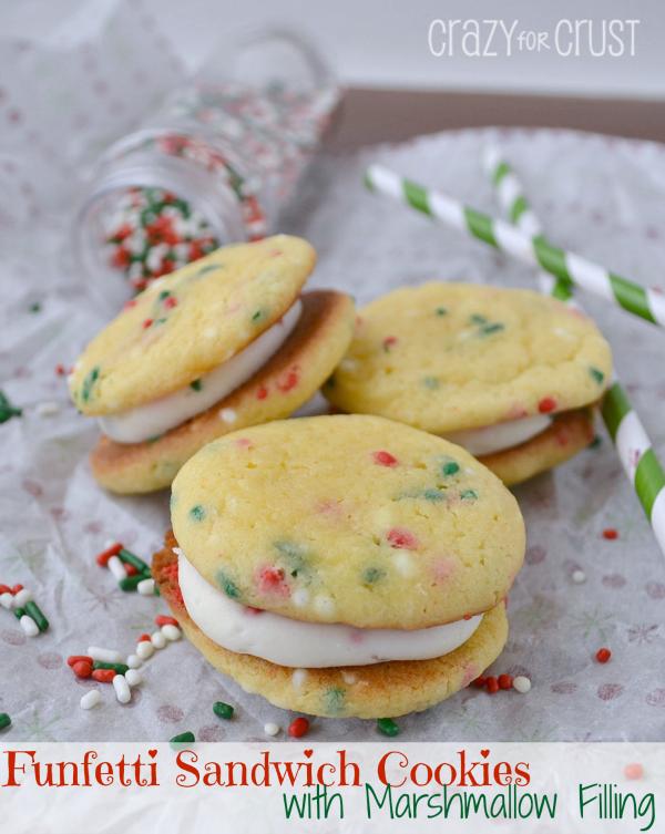 Christmas ideas for kids - Funfetti Sandwich Cookies