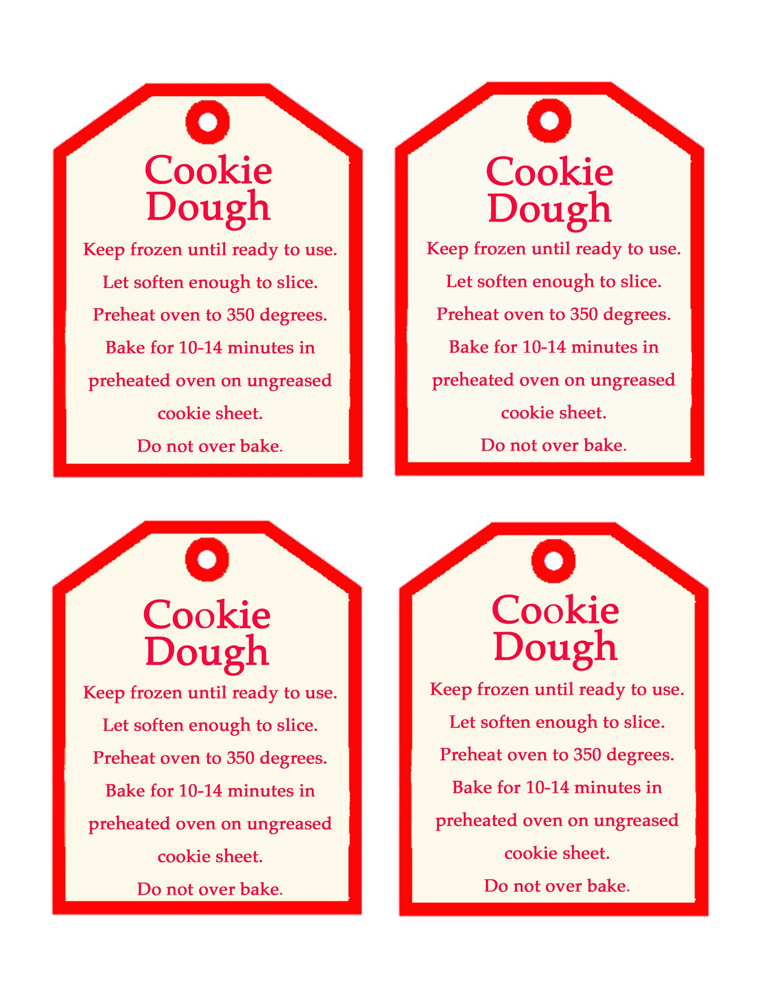 Make cookie dough to give as a Christmas gift. Free cookie dough printable @Design Dazzle #freeprintable, #cookiedoughprintable, #christmasneighborgift