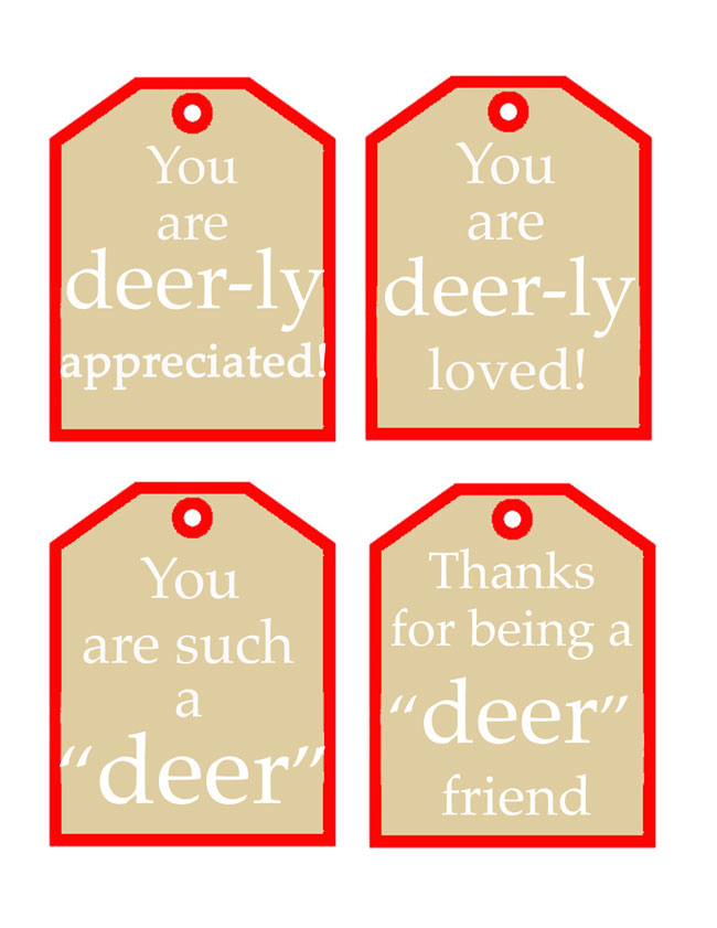 Deer Tag Printables for the perfect finishing touch on your Christmas Gifts! Design Dazzle