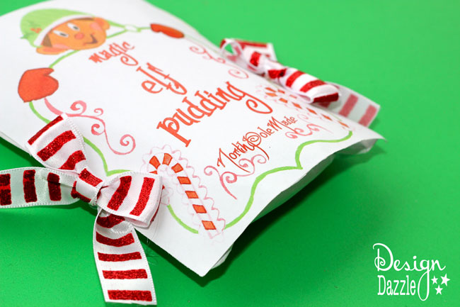 """Free Printable for Magic Elf Pudding by Design Dazzle. """"Why is the pudding magic? Because the pudding starts out white and turns green when you add milk."""" #elfideas #christmaself #elfontheshelf"""