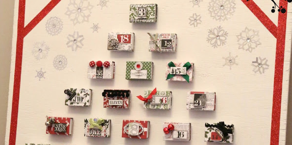 Unbelievably darling DIY matchbox advent calendar! This Christmas never looked so crafty! Featured on Design Dazzle