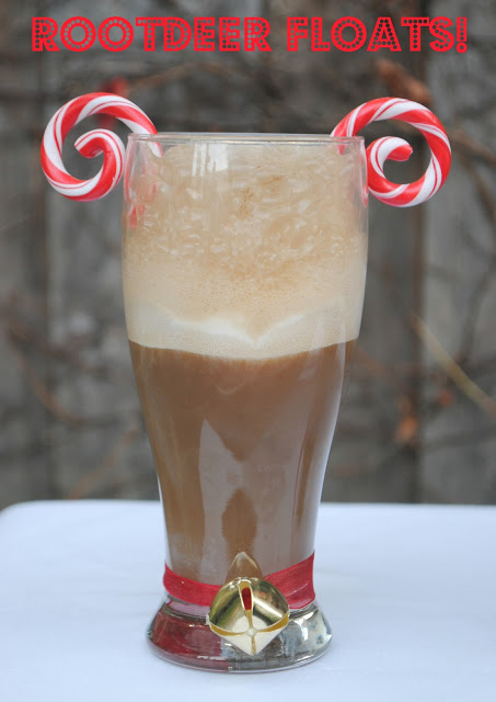 How fun - root deer floats for a fun holiday party drink idea for kids!