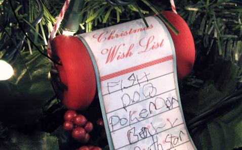 Christmas Wonderful Christms Wish List Ornament Design Dazzle