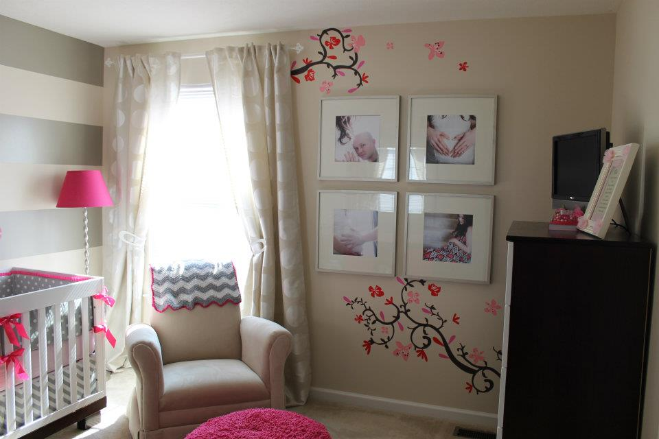 Flowering Cherry Tree Nursery Mural