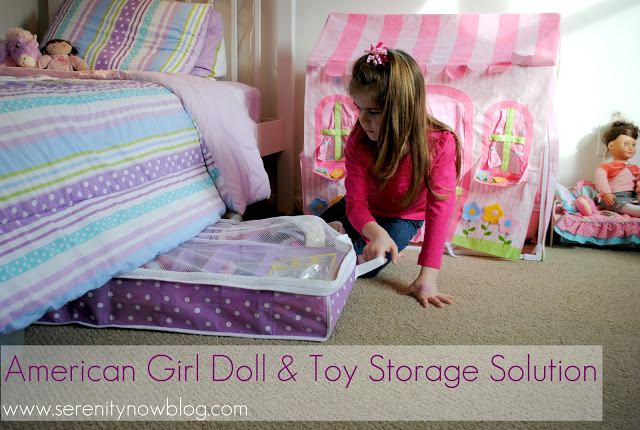 Use an under the bed shoe storage bin to store your dolls and ...