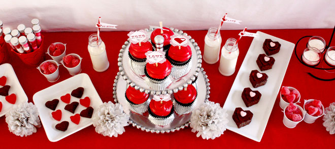 Red White and Silver Valentine's Day parties for kids
