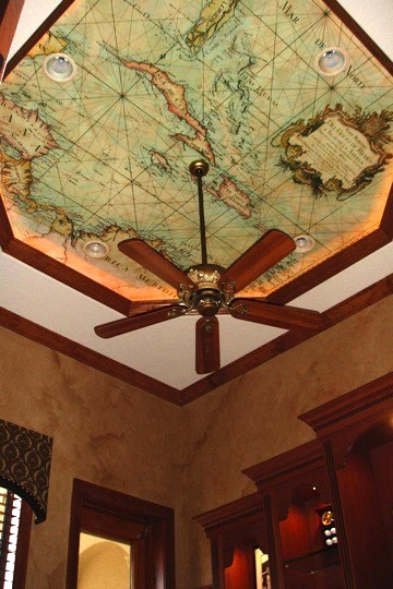 Kids room ceiling ideas for Ceiling mural ideas
