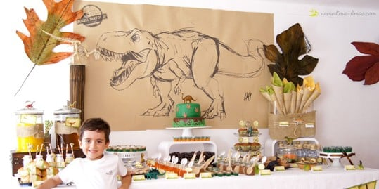 Larger than Life DINO Party!! Killer dessert table.