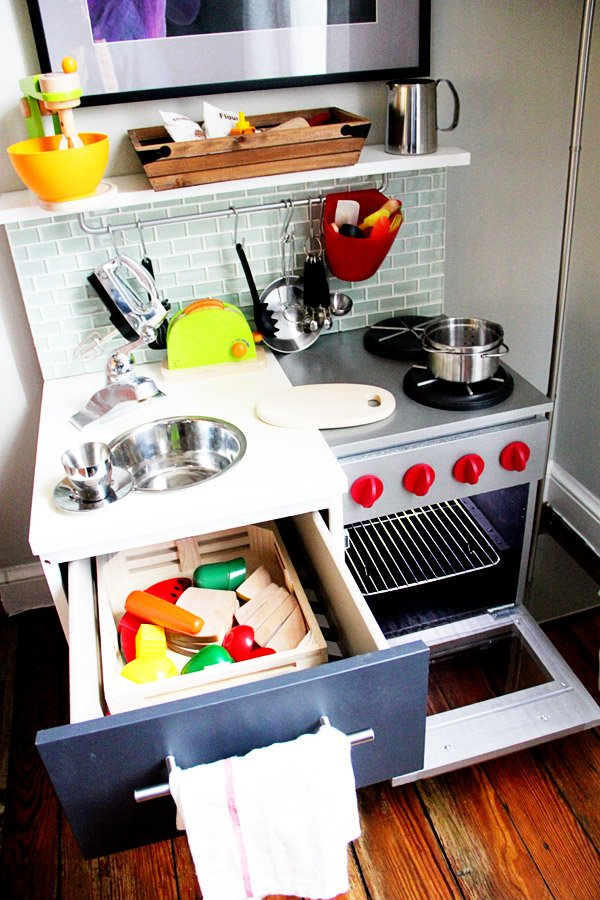 DIY Modern Kids Play Kitchen