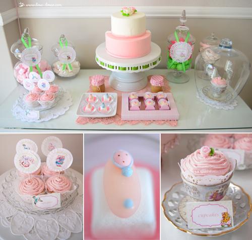 Vintage Pink Nursery Baby Shower Design Dazzle