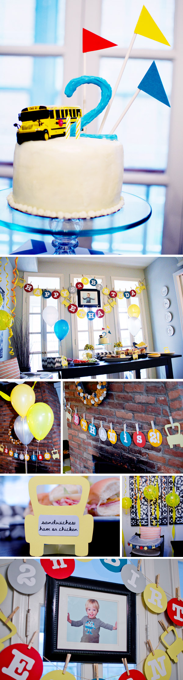 School Bus Birthday Decorations