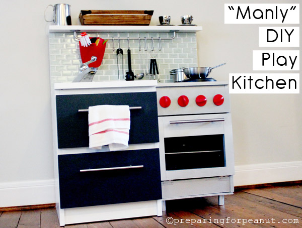 DIY Boys Play Kitchen