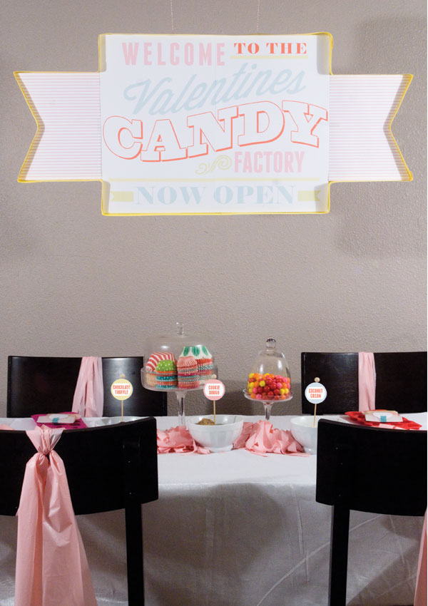 Candy Factory Party backdrop