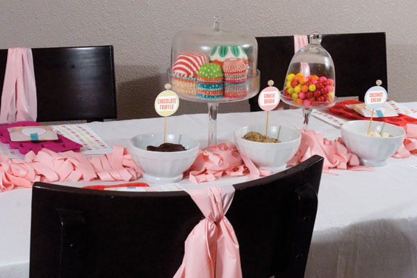 Candy Factory Party activity table
