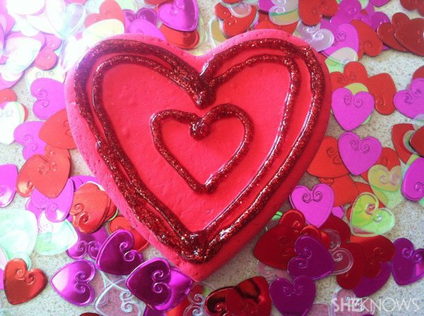 valentine's day crafts for kids - clay heart