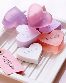 valentine's day crafts for kids - heart shaped soap