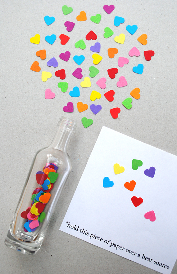 valentine's day crafts for kids - invisible ink notes