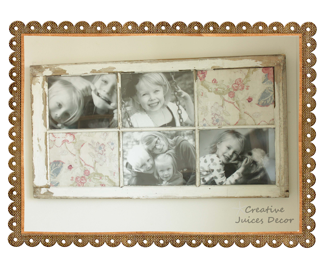 Repurposing A Window Frame Into Picture