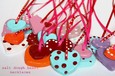 valentine's day crafts for kids - salt dough necklaces