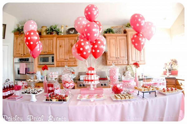 Pink and Red Valentine's Day party for kids