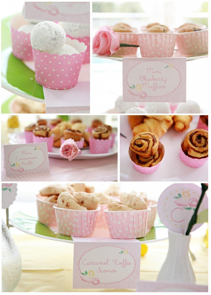 little girls pink dessert brunch ideas