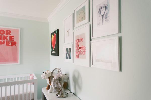 posters in baby nursery