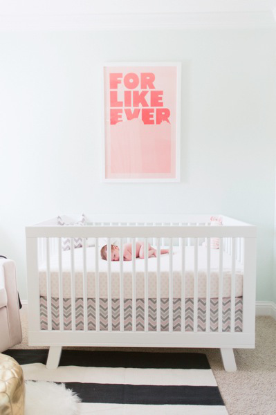 for like ever print in baby nursery