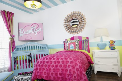 Girls Barbie bedroom