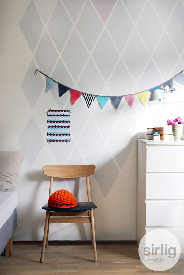 harlequin wall treatment for kids rooms