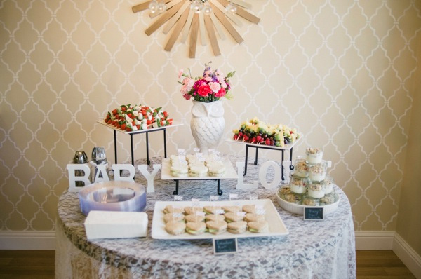Ruffle Baby Shower. Finger Food Spread