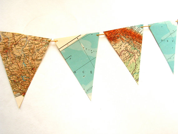 map pennant garland