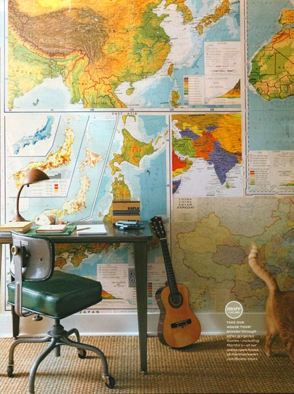 Decorating With Maps And Globes