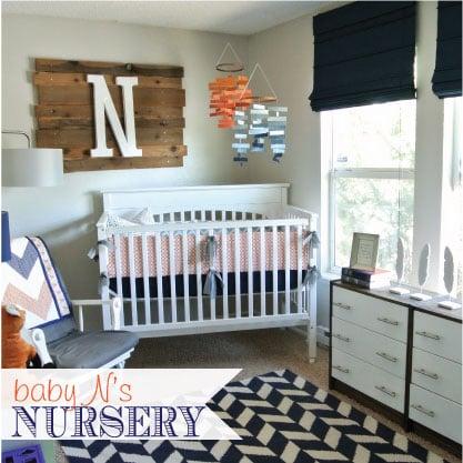 Rustic eclectic modern nursery design dazzle - Modern boy nursery themes ...