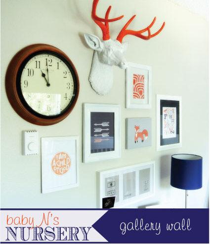 creative nursery wall
